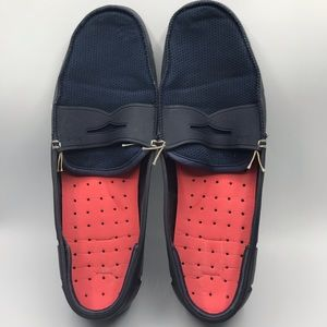 Swims navy blue mesh & rubber penny loafer size 12